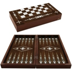 Antique Handmade Backgammon