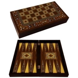 Backgammon antico mosaico a mano