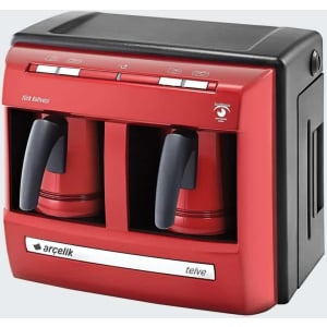 Arcelik  / Beko Turkish Coffee Machine (2 Pots) Red + Gift! - Grand Turkish Bazaar