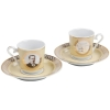 Ataturk Turkish Coffee Serving Set for Two - Grand Turkish Bazaar