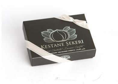 Candied Chestnuts Gift Box (120g) - Grand Turkish Bazaar