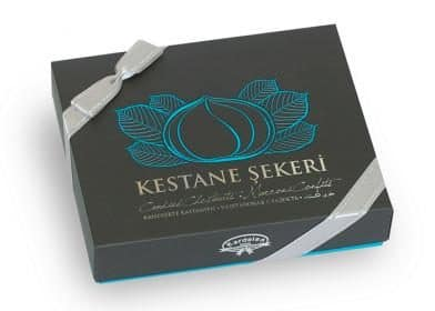 Candied Chestnuts Gift Box (230g.) - Grand Turkish Bazaar