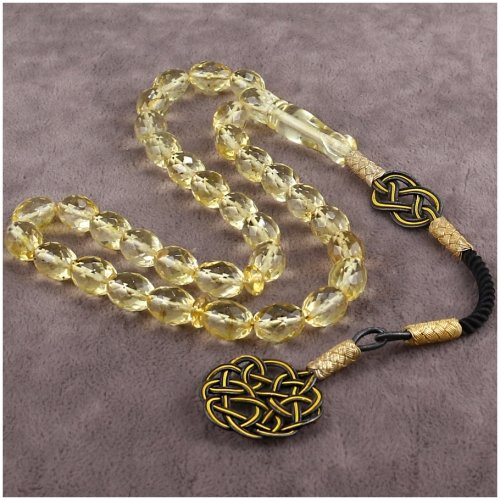 Crystal Cut Pure Amber Prayer Beads