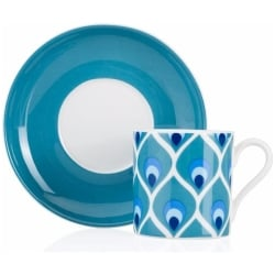 Evil Eye (Nazar) Patterned Turkish Coffee Set for Two - Grand Turkish Bazaar