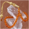 Pure Amber Prayer Beads with Fiossil Pieces