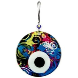 Fusion Evil Eye - Blown Glass - 15 - Grand Turkish Bazaar