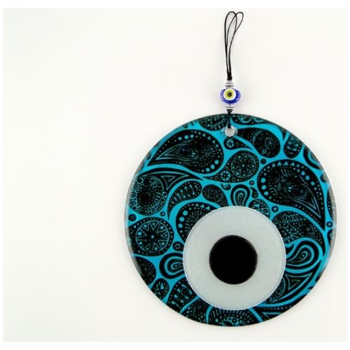 Fusion Evil Eye - Blown Glass - 2 - Grand Turkish Bazaar