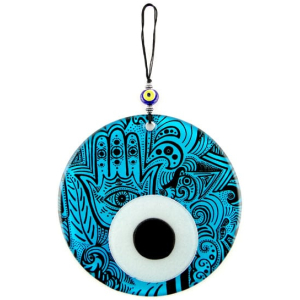 Fusion Evil Eye - Blown Glass - 3 - Grand Turkish Bazaar