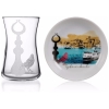 Galata Turkish Tea Glass Set for Four - Grand Turkish Bazaar