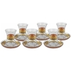 Glided Special Turkish Tea Glass Set (6pcs) - Grand Turkish Bazaar-4