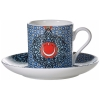 Iznik Tile Patterned Turkish Coffee Set for Two - Grand Turkish Bazaar