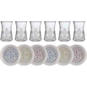 Laleli Turkish Tea Glass Set for Six - Grand Turkish Bazaar
