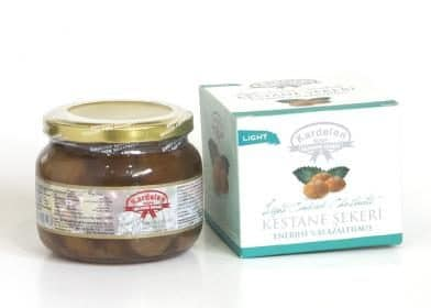Light Candied Chestnuts Jar (500g.) - Grand Turkish Bazaar