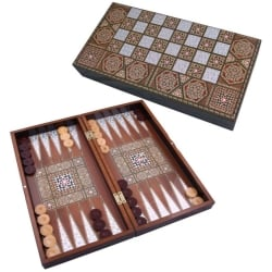 Backgammon fatto a mano massiccio