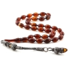 Moired Amber Prayer Beads