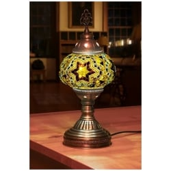 yellow stars mosaic table lamp