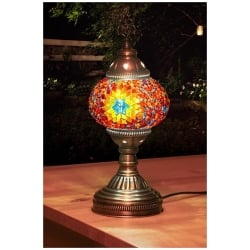 orange stars mosaic table lamp