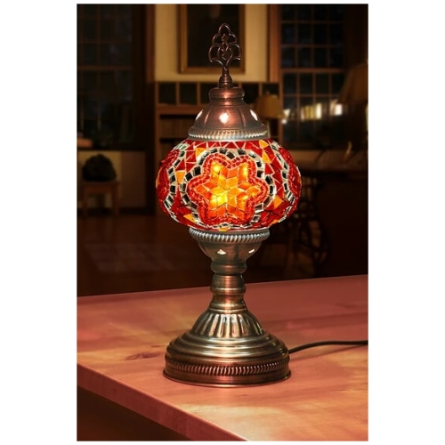 red star table lamp
