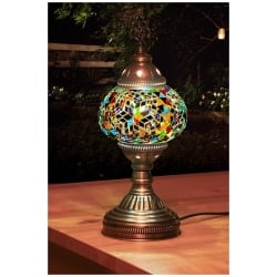rainbows mosaic table lamp