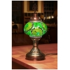 greens mosaic table lamp