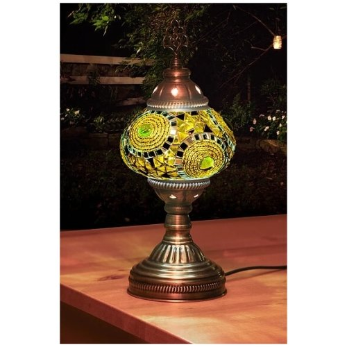 yellows mosaic table lamp