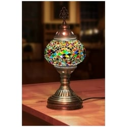 rainbow round mosaic table lamp