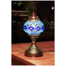 light blue mosaic table lamp