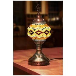 yellow mosaic table lamp