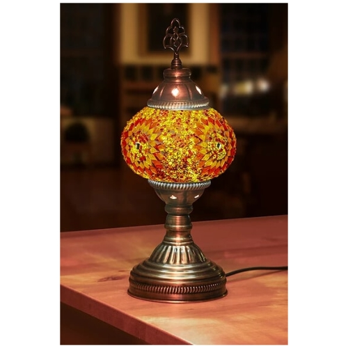 orange mosaic table lamp