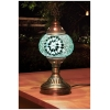 turquoise star mosaic table lamp