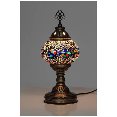 rainbow mosaic table lamp stars