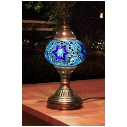 Blue star Mosaic Table Lamp