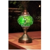 green stars mosaic table lamp
