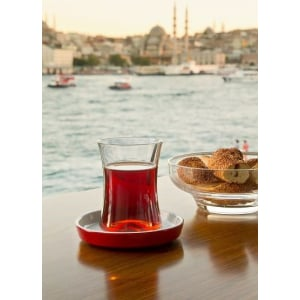 Original Turkish Tea Glass Set for Six - Grand Turkish Bazaar