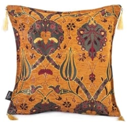 Ottoman Cushion Mustard Color