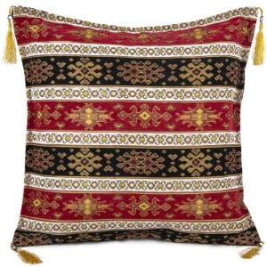 Ottoman Cushion, Red-Black, 2250