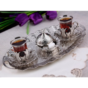 Ottoman Oval Tea Set for Two