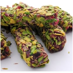 Pistachio Covered Turkish Delight (250gr.) - Grand Turkish Bazaar
