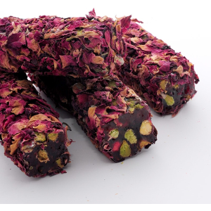 Rose Leaf Covered Turkish Delight (1000gr.) - Grand Turkish Bazaar