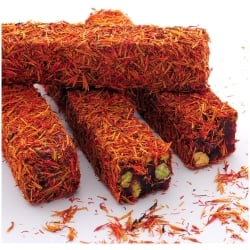 Saffron Covered Turkish Delight (250gr.) - Grand Turkish Bazaar