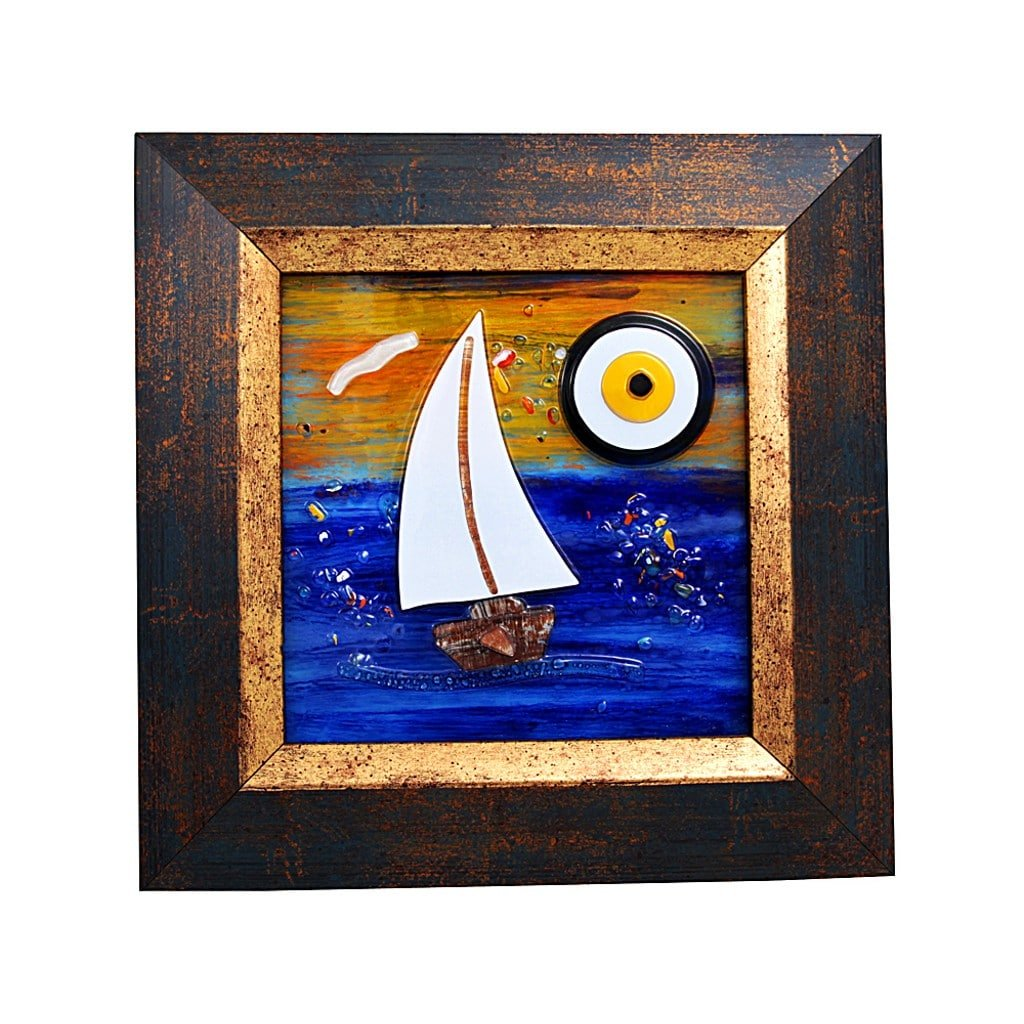 Evil eye wall decor with frame grand turkish bazaar sailboat evil eye wall decor with frame grand turkish bazaar amipublicfo Gallery