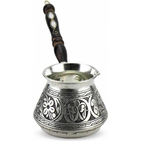 Engraved and Hammered Copper Turkish Coffee Pot