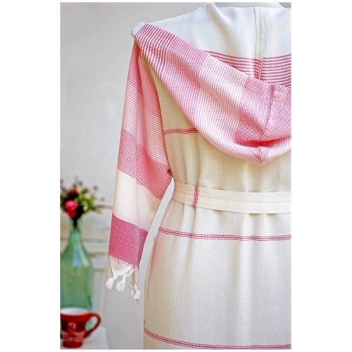 Traditional Pastamal Bathrobe with Hood Turkish Towel