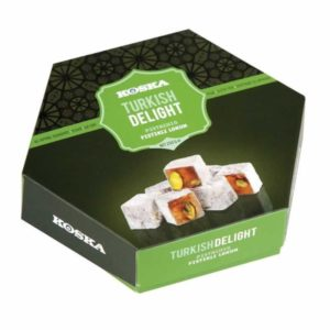 Turkish Delight With Pistachio (250 Gr.) - Grand Turkish Bazaar