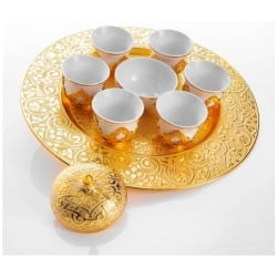 Turkish Mirra Coffe Set for Six