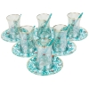 Turquoise Traditional Tea Glasses for Six - Grand Turkish Bazaar-4