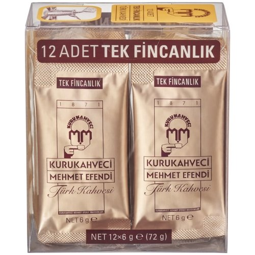 KuruKahveci Mehmet Efendi Turkish Coffee Sachets 12 cups (108g)