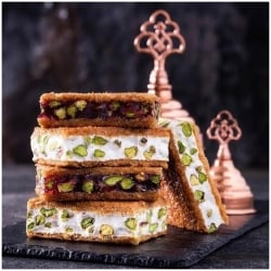 Pistachio Nougat/Pomegranate Mix Kadayifi Delight