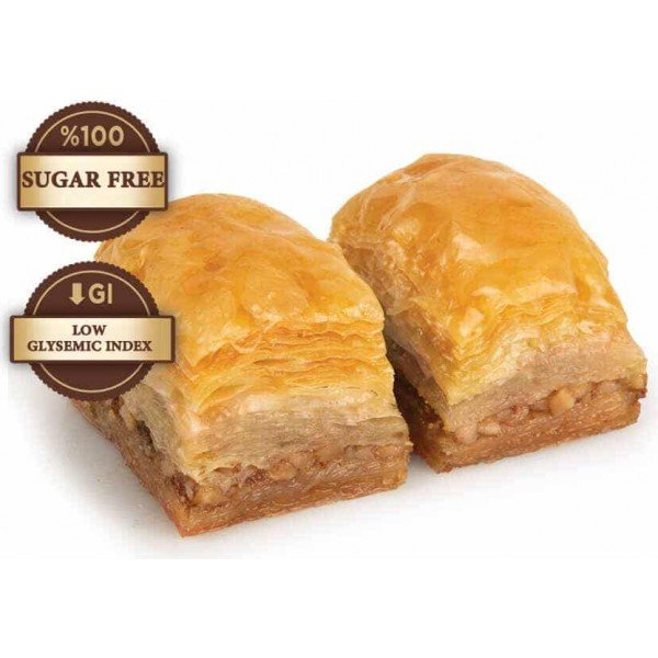 sugar free baklava with walnut