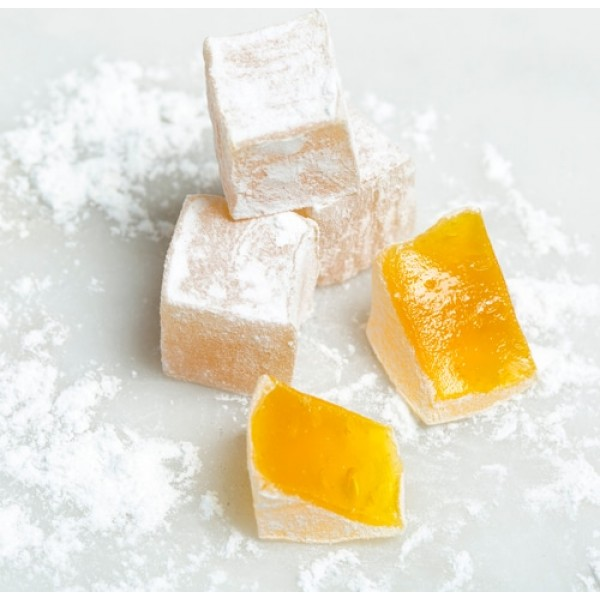 lemon flavoured turkish delight
